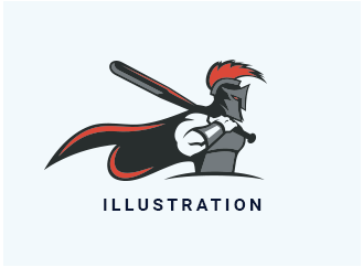 spartan logo with baseball bat