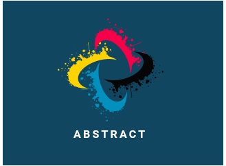abstract paint splash logo