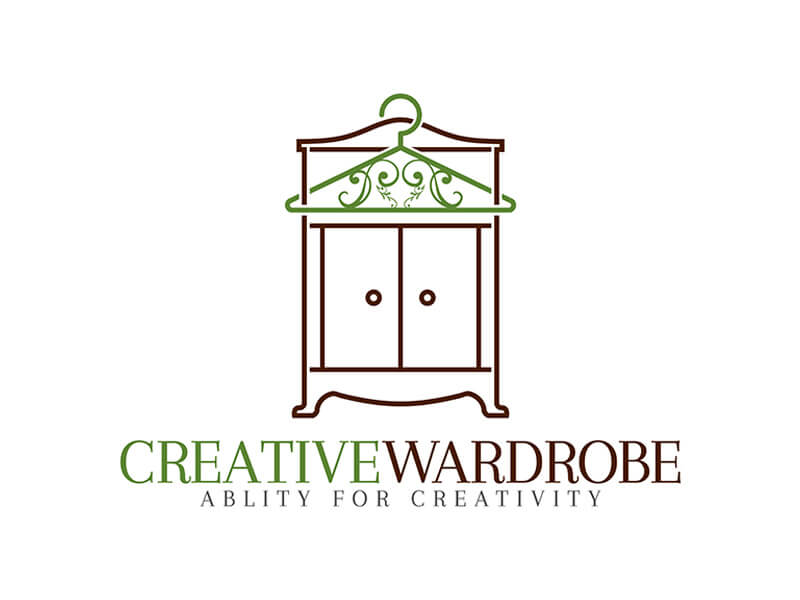 wardrobe and hanger logo