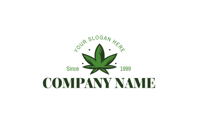 illustrated weed plant | Logo Template by LogoDesign.net