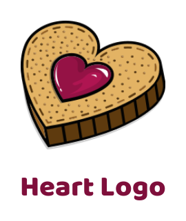 Abstract cookie in heart shape