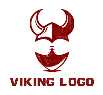 abstract football and viking helmet