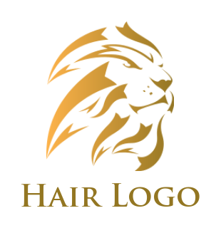 Abstract lion logo