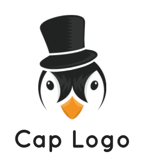 Abstract Penguin with black hat