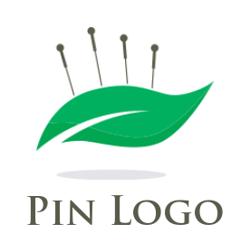 acupuncture needles and leaf logo