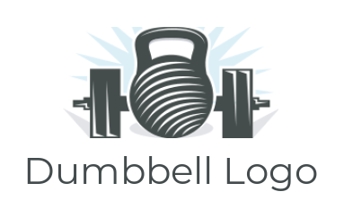 kettlebell and bumbbell logo