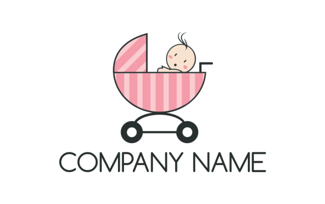 Baby inside the stroller logo template by logodesign baby inside the stroller maxwellsz