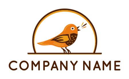 Kingfisher Bird Standing On Water Logo Template By Logodesign Net