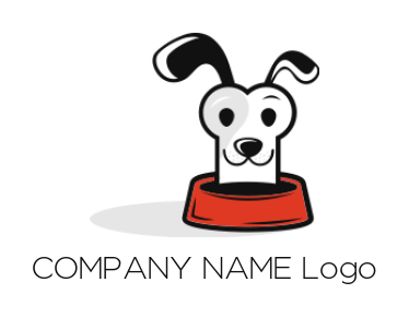 dog face merged with house | Logo Template by LogoDesign net
