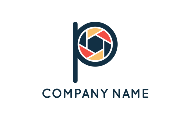Camera shutter merged with letter P   Logo Template by LogoDesign net