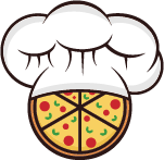 chef hat with pizza