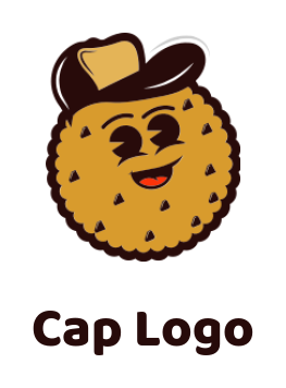 Cookie wearing cap and laughing