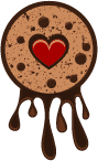 cookie with dripping chocolate