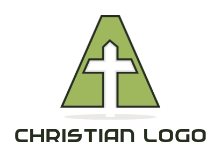 cross inside letter a