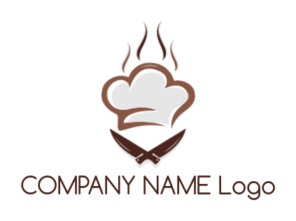 chef hat with kitchen utensils | Logo Template by LogoDesign net