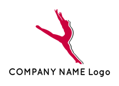 ballerina dance girl inside the circle | Logo Template by ...