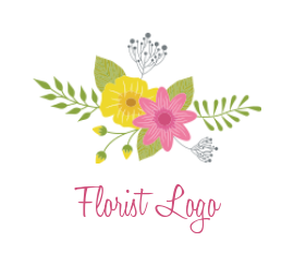 different flowers with leaves for florist