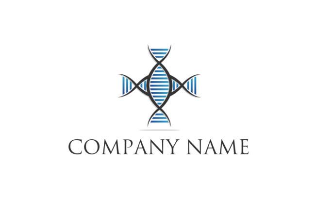 Dna Plus Symbol Logo Template By Logodesign