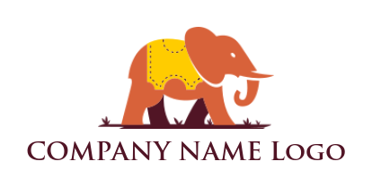 elephant wearing ticket stamp