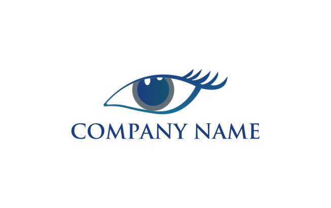 eye with lashes | Logo Template by LogoDesign net