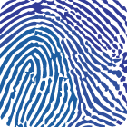 finger print in square