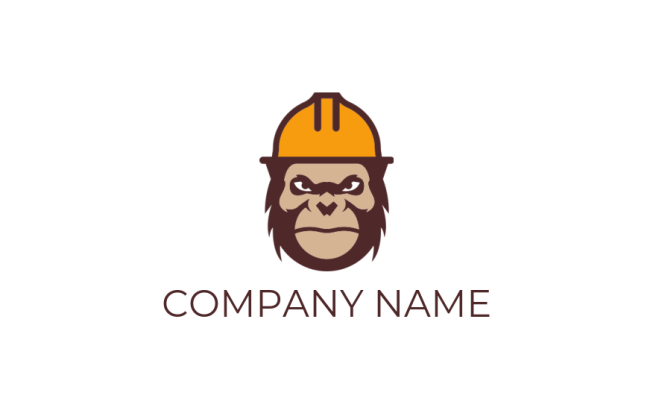 gorilla wearing construction hat