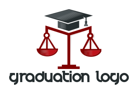 graduation hat on legal scale