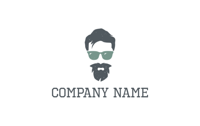 hipster face with glasses | Logo Template by LogoDesign.net