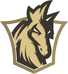 horse mascot inside the shield