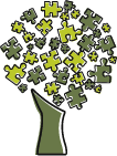 jigsaw puzzle pieces tree