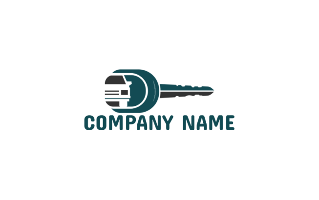 Key With Negative Space Car Logo Template By Logodesign Net