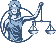 lady justice in circle
