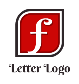 letter f in square shape