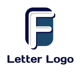 letter f inside rectangle