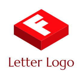 letter f merged with 3D box