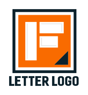 letter f merged with square shape