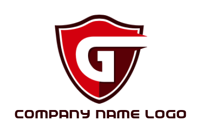 letter g incorporated with shield