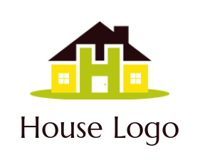 letter h merged with house