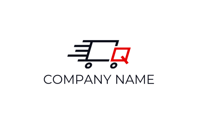 letter q merged with truck | Logo Template by LogoDesign net
