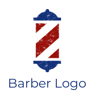 Letter Z incorporated with barber pole lamp