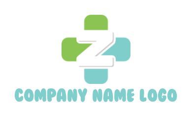 Letter Z incorporated with medical sign