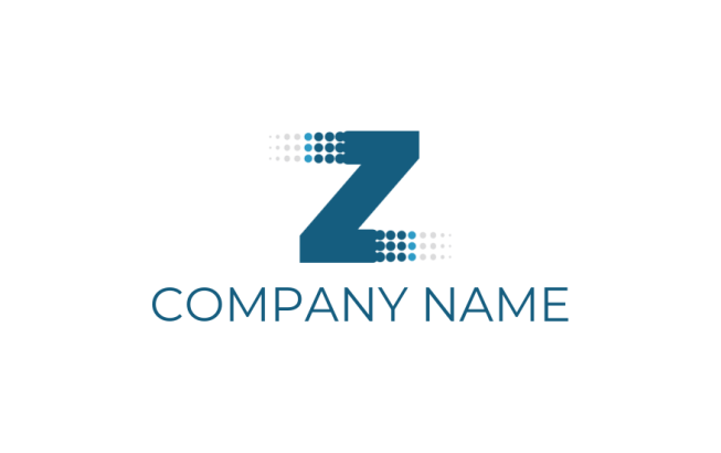 Letter Z merged with half tone dots | Logo Template by LogoDesign net