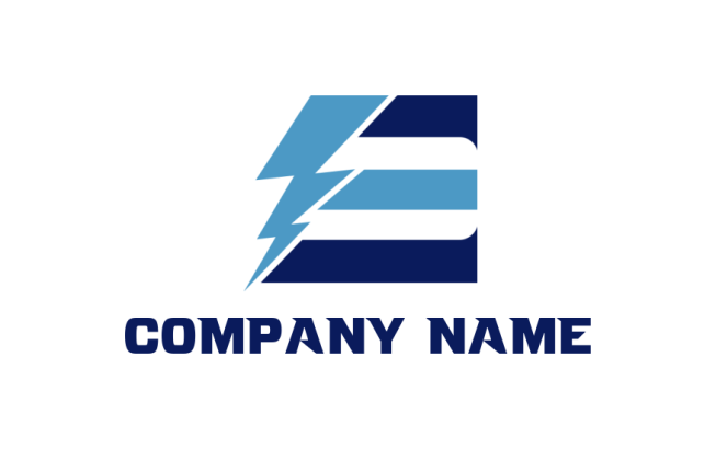 lightning bolt with letter e