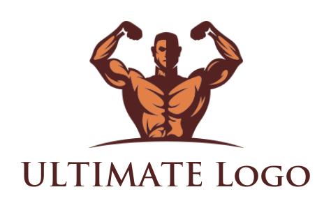 angry man with his bodybuilder mascot | Logo Template by ...