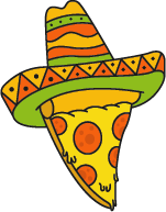 maxican hat on pizza slice