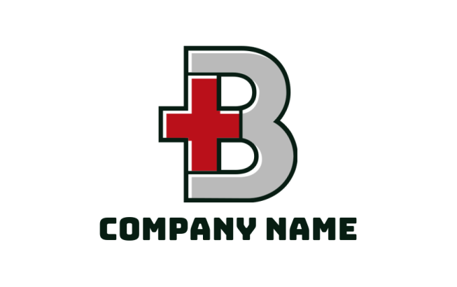 medical plus with letter b