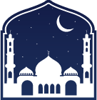 mosque in dome shape with moon