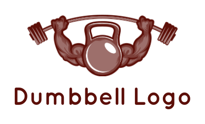 muscular arms with dumb bells