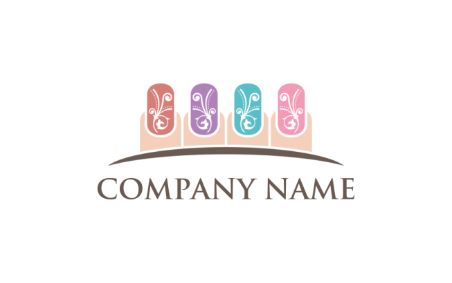Nail Art Logo Template By Logodesignnet