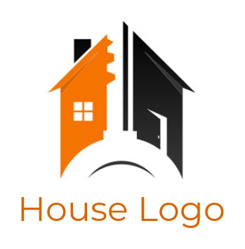 negative space key with house